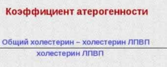 формула коэфициента атерогенности